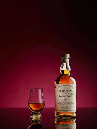 12 year old: The Balvenie DoubleWood is a 12 year old single malt which gains its distinctive character from being matured in two wood types.