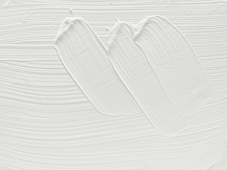 patchy: White primer painted for art canvas, grunge strokes Stock Photo
