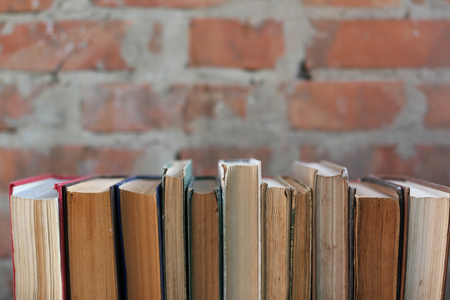 dirty old worn books,  background Banque d'images