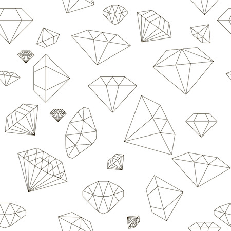 gemstone: seamless pastel diamond pattern background made of precious stones