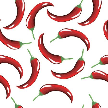 pungency: Seamless pattern of hot red pepper