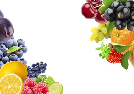 Frutas e verdura frescas da cor. Conceito de comida saudável Foto de archivo - 84897911