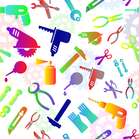 Seamless Pattern With Tools