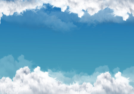 background with sky and clouds Stock Photo