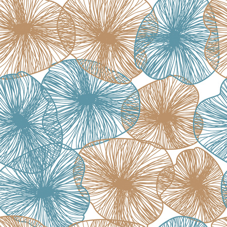 Floral background, Scandinavian style, symbolic flowers and leaves. Illustration