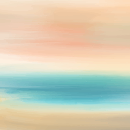 Hand painted watercolor sky and clouds, abstract watercolor background, vector illustration
