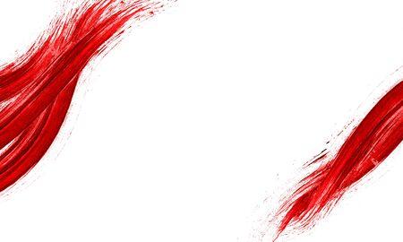 Red Abstract Stroke. Colorful raster watercolor brush stroke Reklamní fotografie