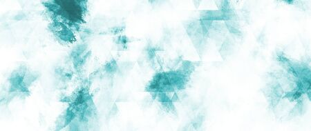 Abstract blue watercolor background for paper design.