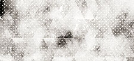 watercolor geometry hexagonal and triangle abstract pattern