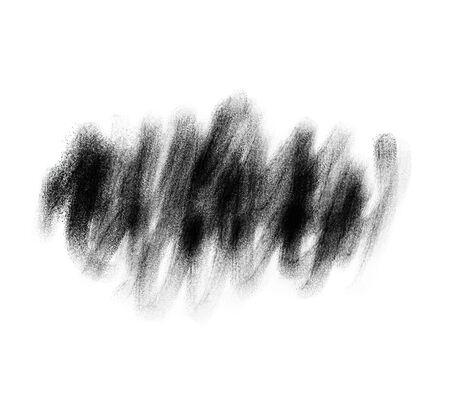 Black brush stroke hand in retro style on white background.