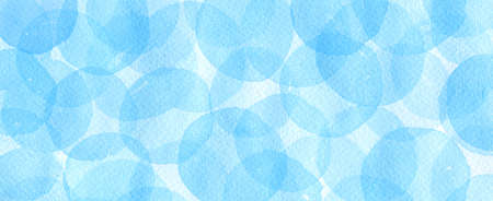 Abstract geometric with watercolor blue circles.Hand Drawn watercolor illustration. 免版税图像
