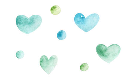 Watercolor heart illustration .element for your design.Hand Drawn watercolor illustration. Isolated on a white background. 免版税图像