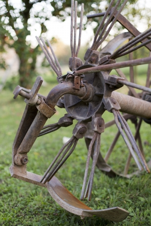 Old agricultural machine or tool - for potatoes photo