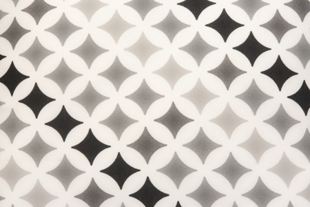 fabric texture - black and grey square stars on white background  Stock Photo - 22561469