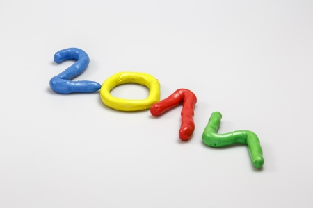New Year 2014 from colors  Stock Photo - 23698309