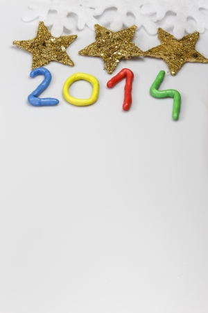 New Year 2014 from colors Stock Photo - 23698319