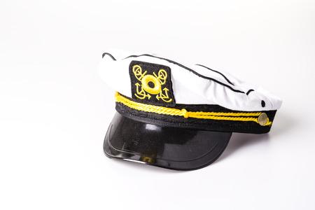 White sailor cap on the white background