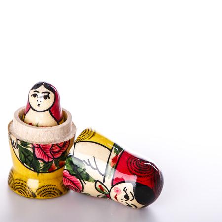 Beautiful Russian Dolls Matryoshka Isolated on a white background