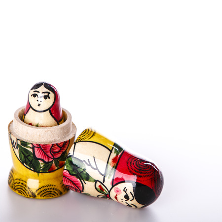 Beautiful Russian Dolls Matryoshka Isolated on a white background