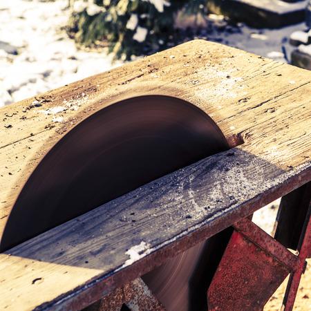 old handmade circular saw blade photo