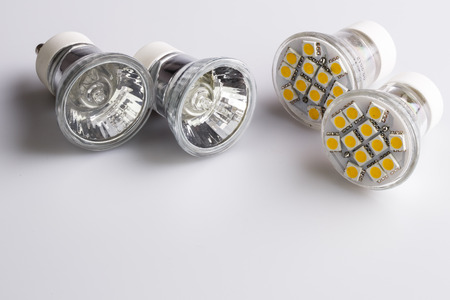 Modern LED bulbs - the light of future photo