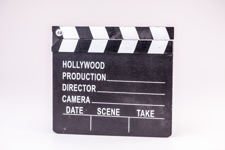 Film or Movie flapper on white background