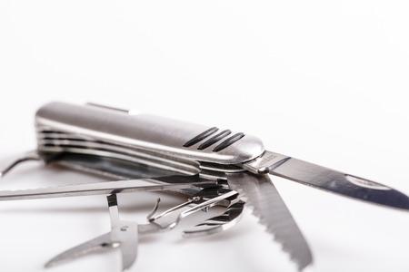 swiss knife: metallic swiss knife army keychain