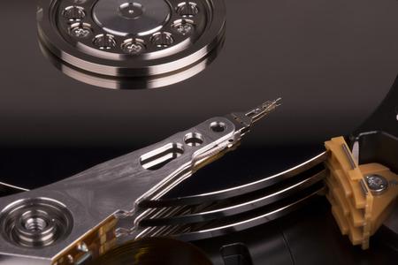 Inside Hard disk drive HDD  photo