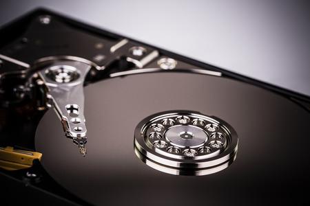 harddisk: Inside Hard disk drive HDD isolated on white background