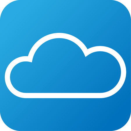 meteorologist: Blue and white Weather web icon with cloud
