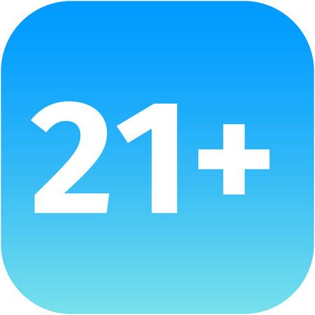 pornografia: Signo a�os 21, m�s de edad. Adultos Icono. Bot�n azul y blanco. para la web, aplicaci�n de tel�fono
