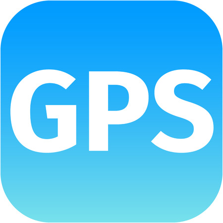 GPS blue icon for phone, internet or web app