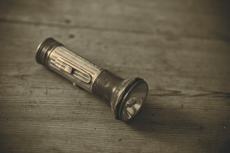 torchlight: nice retro blue and silver flashlight