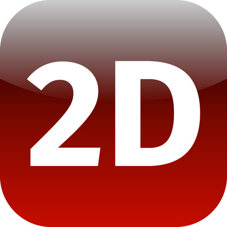 red 2D icon for web or phone app - 2 dimension photo