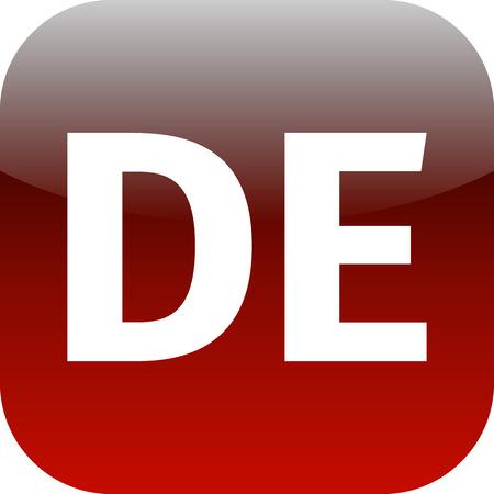 deutchland: DE domain icon, Germany, Deutchland, red, international