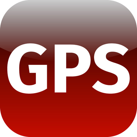 GPS red icon for phone, internet or web app