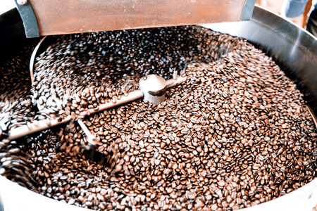 Roasting process of coffee beans photo