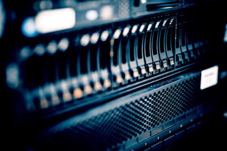 statistique: stockage ou serveur de fichiers. disque dur dans la salle de serveur