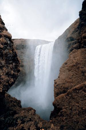 skogafoss waterfall: Skogafoss waterfall - Iceland