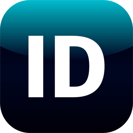 blue ID icon for web, internet or phone app
