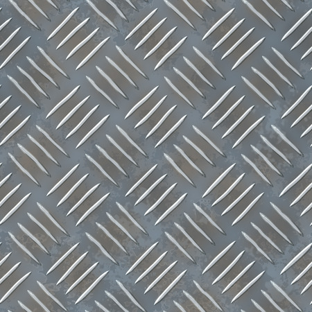 aluminium texture: Aluminium dark list with rhombus shapes - grey texture