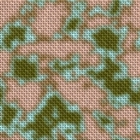 army green and brown woodland camouflage fabric texture background photo