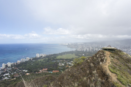 diamond head: panorama of honolulu from diamond head