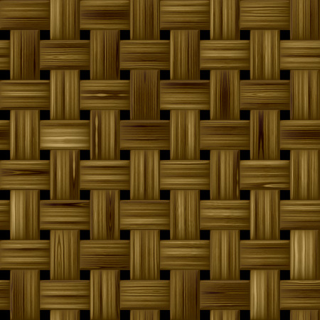 knitwear: detail texture of fabric or knitwear - wicer basket, brown Stock Photo