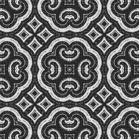 deluxe: seamless black and white pattern - possible for curtain, fabric, table-cloth