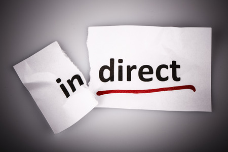 changed: The word indirect changed to direct on torn paper and white