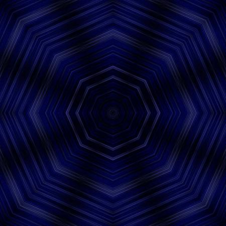 kaleidoscope: beautiful dark blue kaleidoscope illustration Stock Photo