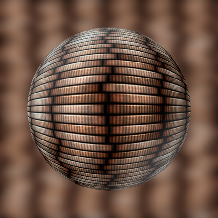 beautiful coin stack seamless texture - coins in columns photo