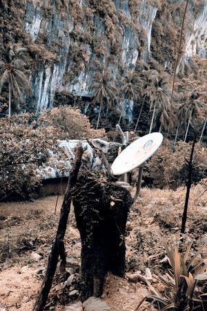 satelite: Satelite dish,  parabola - Palawan, Philippines
