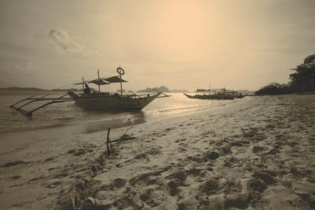 palawan: Beautiful sunset, El Nido, Palawan Stock Photo